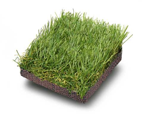 Granulato di gomma per fissare fili d'erba sintetica