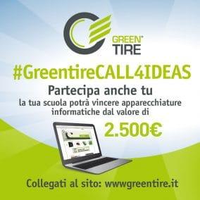 Scadenza prorogata al 20/4 per il concorso #GreentireCALL4IDEAS!