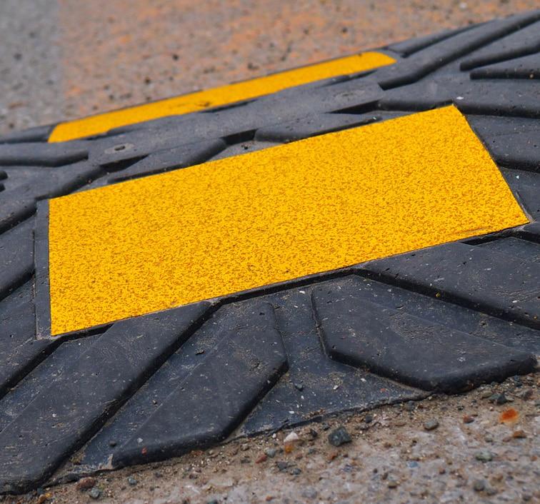 Dissuasore in gomma recuperata da pneumatici fuori uso