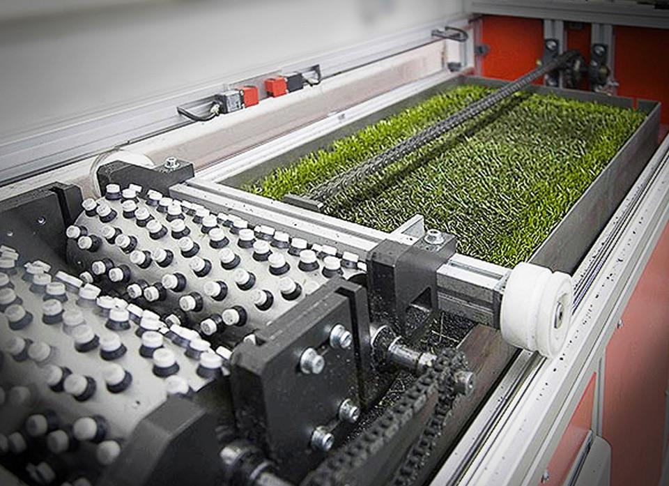 Produzione intaso in gomma per erba sintetica recuperato da pneumatici fuori uso