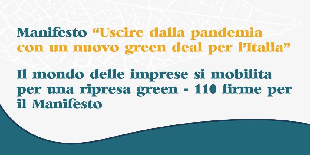 Greentire aderisce al Manifesto per un nuovo Green Deal per l'Italia