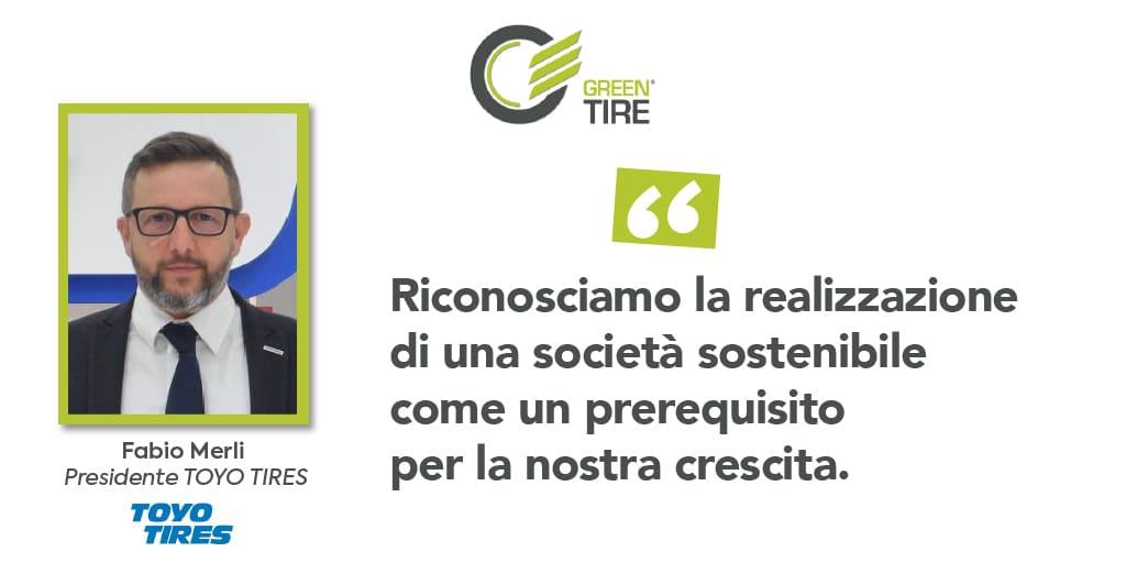 Greentire intervista Fabio Merli, Presidente Toyo Tires, per la rubrica #uniscitiagreentire